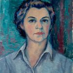 Myra Biggerstaff, Self-Portrait, oil, 1950