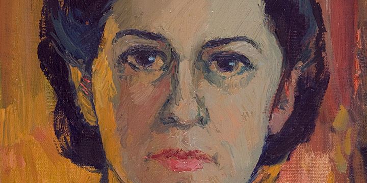 Myra Biggerstaff, Self-Portrait, oil on canvas, 1950