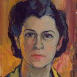 Myra Biggerstaff, Self-Portrait, oil on canvas, 1950