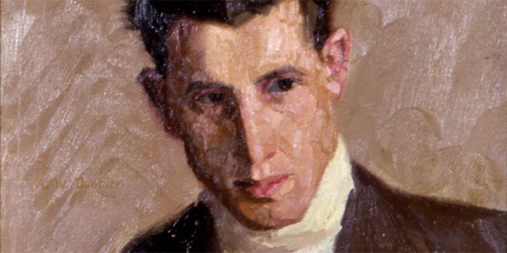Augustus W. Dunbier, Portrait of William Stuvie, oil, 1916
