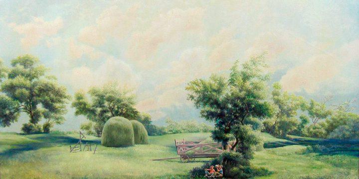 Terence R. Duren, Hay Meadow, oil on canvas, n.d.