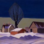 Dale Nichols, After the Blizzard, oil on canvas, 1967
