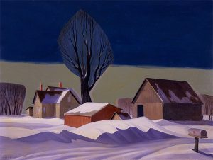 Dale Nichols, After the Blizzard,1967, oil on canvas, 1967