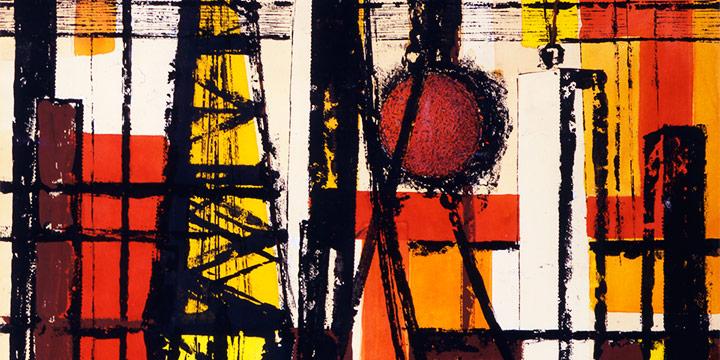 Myra Biggerstaff, Demolition, New York City, watercolor, c. 1970
