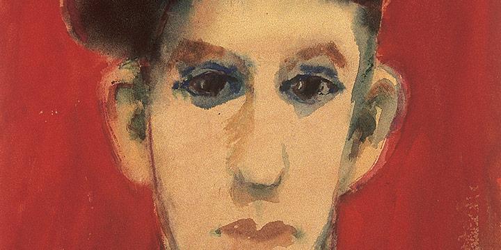 Myra Biggerstaff, Portrait of a Young Man, watercolor, n.d.