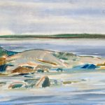 Myra Biggerstaff, Sandy Beach, watercolor, 1945