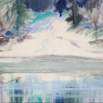 Myra Biggerstaff, Frozen Stream, gouache on paper, n.d.