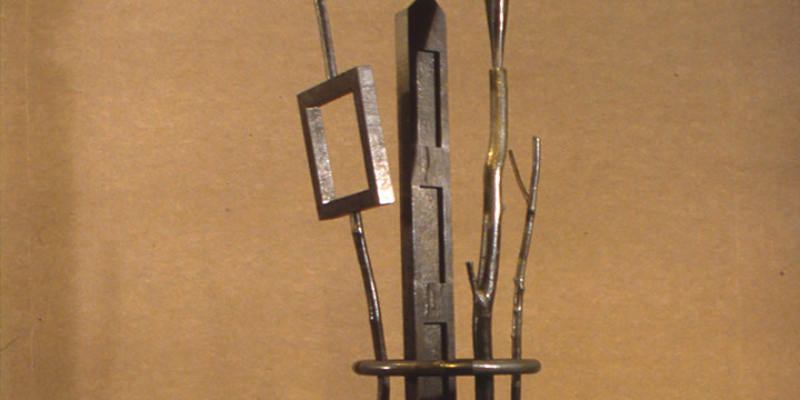 Richard Helzer, Temple of Dreams, hammered lead over wood,1989