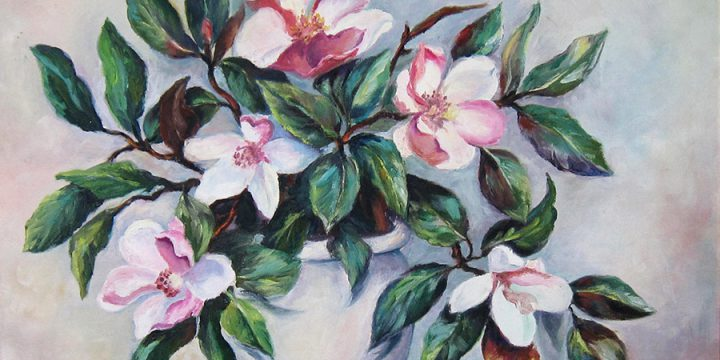 Ethelyn T. Hersh, Magnolias, oil, 1958-1959