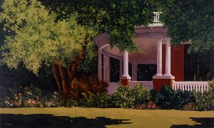 Carol Pettit, Summer Veranda, oil on canvas, 1992