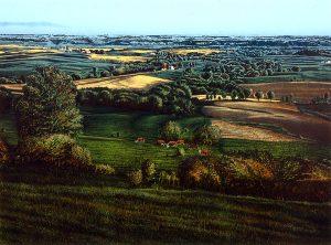 James D. Butler, Landscape in Evening Light, lithograph, 1986