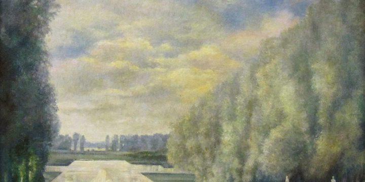 Terence R. Duren, The West Terrace at Versailles, oil on board, n.d.