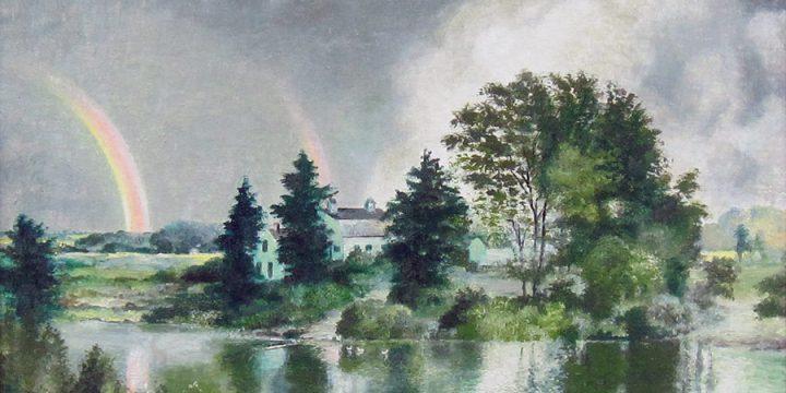 Terence R. Duren, Double Rainbow Over the Missouri, oil on canvas, n.d.