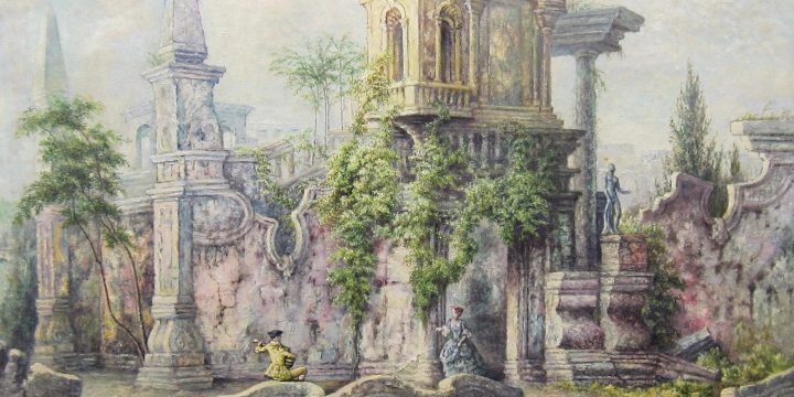 Terence R. Duren, The Ruins of St. Saens, oil on canvas, n.d.