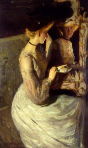 Lawton S. Parker, Portrait of an English Girl, Miss Mabel Gains, oil on canvas, 1903
