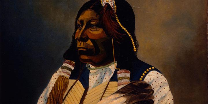 Frank Rinehart, Portrait of Grant Richards - Chief of the Tonkawa, oil, c. 1898–1900