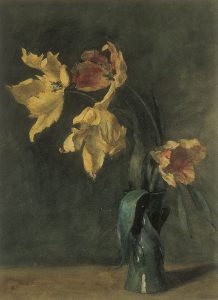 Sara Sewell Hayden, Tulips, watercolor, c. 1899-1916