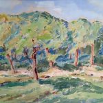 Myra Biggerstaff, Apple Orchard, watercolor