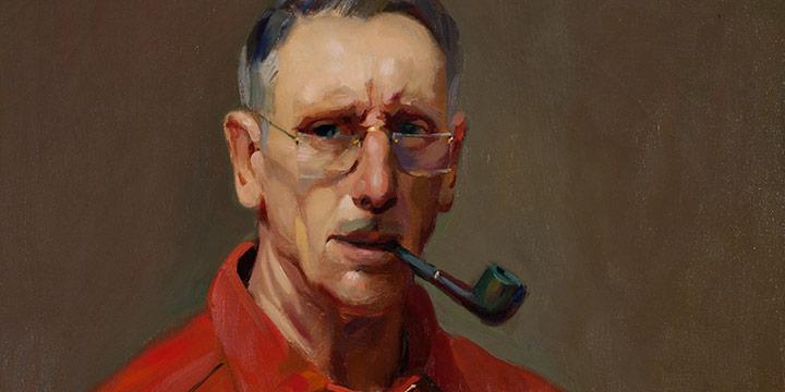 Augustus W. Dunbier, Self-Portrait, oil, 1950