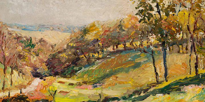Augustus Dunbier, Untitled (landscape), oil, 1922