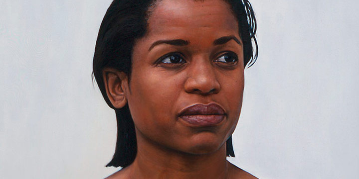 Stephen Cornelius Roberts, Painting of D. W., oil over alkyd over acrylic on linen, 1999