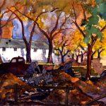 Grant Reynard, Marchassault Street, watercolor, n.d