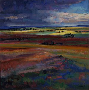 Bloodline, Tom Talbot, alkyd on canvas, n.d.