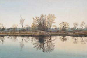 Gary E. Zaruba, Autumn Reflections, acrylic, 1990