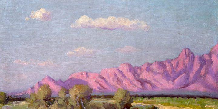 Robert F. Gilder, Desert Scene, oil, 1920