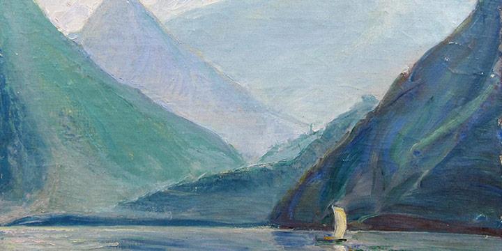 Dwight Kirsch, On Lake Como, oil on canvas, 1927