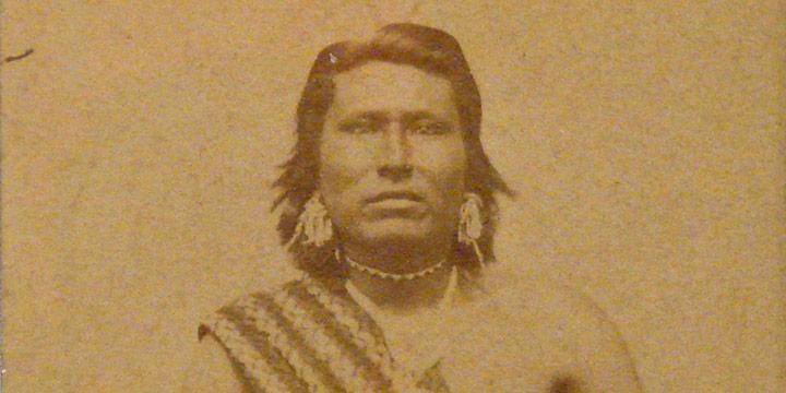 William Henry Jackson, Pawnee Warrior, albumen print, n.d.