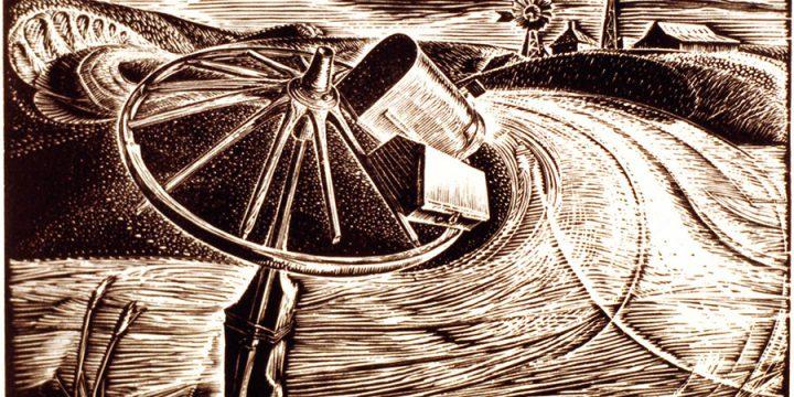 Dwight Kirsch, RFD Nebraska, wood engraving (edition of 70), 1937