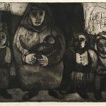 Freda Spaulding, Family, intaglio, 1951