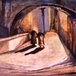 Freda Spaulding, Underpass, oil on canvas, n.d.