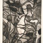 Freda Spaulding, Floating Forms, etching, n.d.