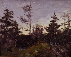 Robert Henri, Island Trees, oil on wood panel, 1911