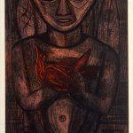 Freda Spaulding, Druid, color intaglio (6/10), 1952