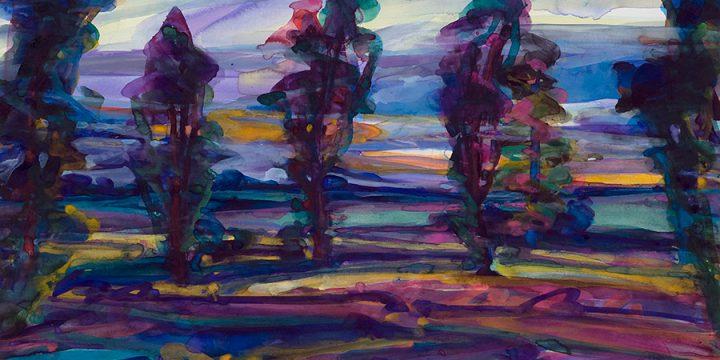 Susan Puelz Demi - Jour (Half Light) watercolor 1988
