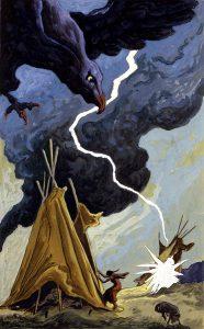 Thomas Hart Benton, Bolt of Lightning, gouache, ink, 1945