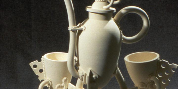 Jake Jacobsen, Tea Set, porcelain, 1990