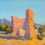 Robert F. Gilder, Untitled (Southwest landscape), oil on board, n.d.
