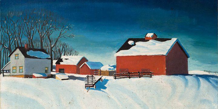 Dale Nichols, Untitled (farm scene), lithograph, n.d.