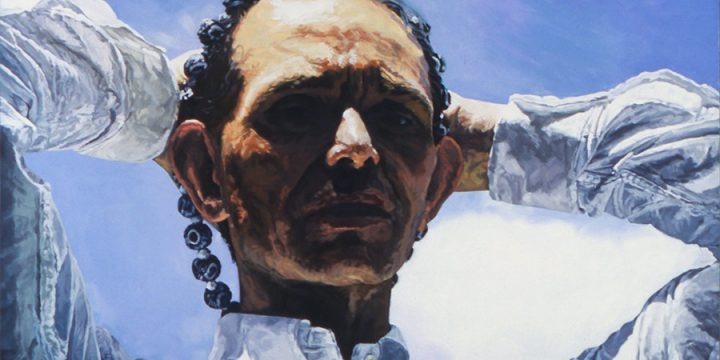 Susan Knight, Look Earthward Angel - Portrait of Fritz Bally, oil on canvas, 1993