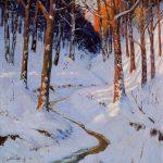 Robert F. Gilder, An Evening in February, Fontenelle Forest, oil on masonite, 1936