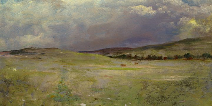 Albert Bierstadt, Clouds Coming Over the Plains, oil on paper