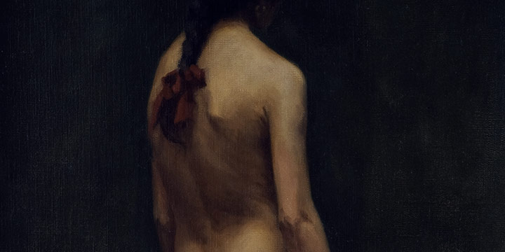 Lawton S Parker, Untitled (nude), oil on canvas, n.d.