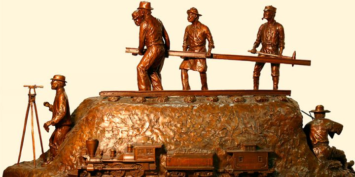 Ted Long, Trails to Rails, (bronze (4/10)), 1996