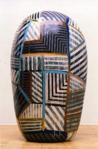 Jun Kaneko, Dango 92-10-7, ceramic, 2000