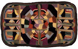 Jean Louise Berg Thiessen, Untitled (Jean Louise Thiessen monogram), on-edge felt mosaic, c. 1900s-1930s