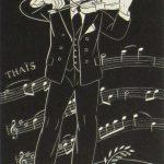 Dale Nichols, Untitled (violinist), woodblock print (11/60), n.d.